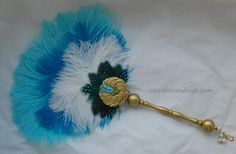Lucia Renaissance Feather Fan