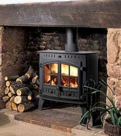 Woodburning stove and fireplace insert provide a cozy fireplace corner - Home Decoration Wood, House, Home Fireplace, Inglenook Fireplace, Wood Burner Fireplace, Wood Fuel, Stove, Fireplace, Wood Burning Fireplace
