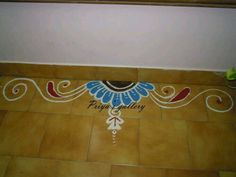 Need more ideas Rangoli Borders, Rangoli Patterns, Rangoli Border Designs, Rangoli Ideas, Kolam Designs, Henna Designs, Blouse Designs, Free Hand Rangoli Design, Small Rangoli Design