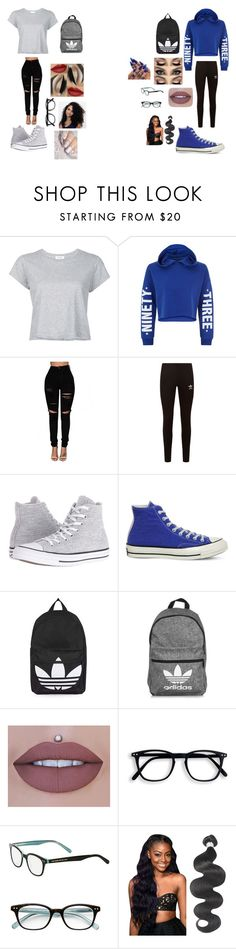 """untitled #5"" by crssylopez on Polyvore featuring RE/DONE, New Look, adidas Originals, Converse, Topshop, adidas, Jeffree Star, Sephora Collection and Kate Spade"