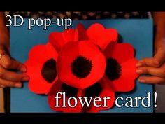 How To Make 3D Pop-up Flower Greeting Cards - Somediys.Org