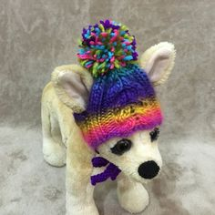 Pet Clothes Apparel Outfit hand Knit Colorful Hat  for Small Dog Hand Made Dog Hat  Nice Gift