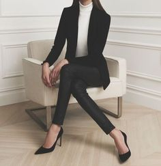 20 Outfits for a job interview will make you feel very sure of yourself! - 20 Outfits for a job interview will make you feel very sure of yourself! Best Picture For college - Business Outfits, Office Outfits, Work Outfits, Classy Outfits, Casual Outfits, Outfits Hipster, Look Formal, Looks Style, Up Girl
