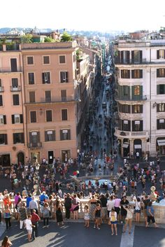 amazing view from the Piazza di Spagna, Rome