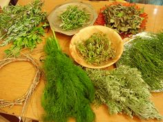 """Herbs are used in magick for their """"vibrations"""" or """"essences"""". What does this mean? Herbs, like people, have gender, are ruled by a planet, an element, and sometimes, are sacred to a certain deity.  Another reason to use herbs in magick is diversity. You can burn them as incense and make special incense blends to compliment your needs. You can use the essential oils in cleansing baths and anointing oils. You can even use them culinary for special ritual foods or magickal dishes."""