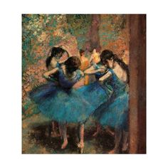 Dancers in Blue (Danseuses Bleues) Giclee Print by Edgar Degas at Art.com
