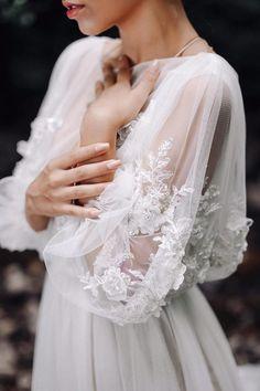 Wedding dress LINDA with long train Exclusive wedding dress Haute couture wedding dress Best Wedding Dresses, Wedding Attire, Couture Wedding Dresses, Sleeved Wedding Dresses, Wedding Gowns With Sleeves, Stunning Wedding Dresses, Dresses Elegant, Beautiful Dresses, Wedding Bells