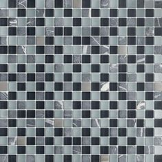 "Buy Quantum Night Lavos 5/8"" x 5/8"" Mosaic Glass Tiles Meshed on 12 x 12 Sheet, Bathroom Walls, Kitchen Backsplash, Shower Walls, Living Roo..."