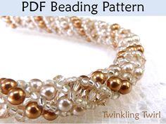 Russian Spiral Stitch PDF Beading Pattern, Necklace Tutorials,