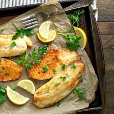 With just 5 minutes of prep and 5 simple ingredients, this Garlic Parmesan Tilapia is an easy and healthy dinner for busy weeknights!