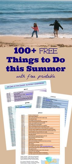 free things to do with the kids this summer -- with printable list!