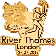 London 2012 Pins and Badges - Latest News: Olympic Torch Relay - A Pin a Day History Of England, River Thames, Pin Badges, Olympic Games, Lapel Pins, Chevrolet Logo, Olympics, Backdrops, London