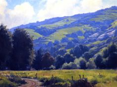 Michael Obermeyer  Spring Hills, Bommer Canyon Oil on canvas