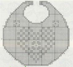 Resultado de imagen para baberos crochet patrones