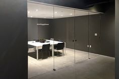 glass partitions with sliding glass doors and panels Sliding Door Systems, Sliding Panels, Panel Doors, Glass Hinges, Sliding Glass Door, Glass Doors, Evo, Glass Room Divider, Glass Partition
