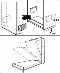 Mécanisme pour lit escamotable - Quincaillerie