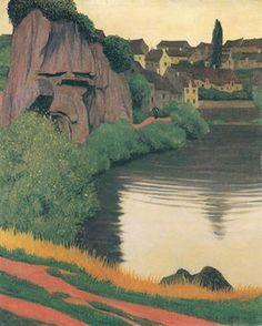 Félix Vallotton,(b1865 Lozan - 29 Aralık 1925, Paris, post-impressionist painter).Landscape Semur  ia