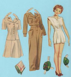 Vintage Paper Doll Outfits