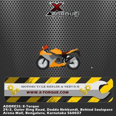Service your bike at X-Torque and #FeelTheChange. Come visit us for great deals and discounts on your Bike Service. Call us now - +91 9611119633 / 9611119645