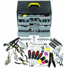 105 Piece Tool Kit with 4-Drawer Chest $49 at Harbor Freight.  America's low cost leader.