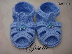 Crochet Baby Bootties And Sandals, Croch - Diy Crafts - maallure Crochet Baby Sandals, Booties Crochet, Crochet Shoes, Crochet Baby Booties, Crochet Slippers, Crochet Clothes, Knitting Patterns Boys, Baby Boy Knitting, Baby Boots