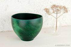 Bol de cerámica verde - accesorios del hogar - hecho a mano en DaWanda.es
