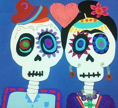 Not just a great picture...great instructions...use for Frida and Diego unit instead of Day of the Dead?