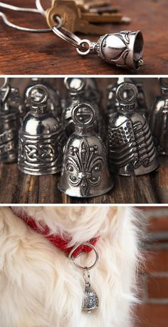 These handsome pewter bells come in a variety of styles, but they all have one thing in common: they bring extra good luck to whomever receives them.