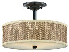 Serenity Semi-Flush Mount - Ceiling Fixtures - Ceiling Mount Lighting - Lighting | HomeDecorators.com