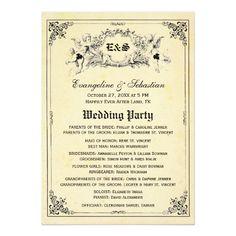 Fairy Tale Storybook Wedding Programs Card