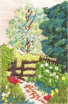 Woodland Walk Rowandean Embroidery http://www.amazon.com/dp/B001U4BIXS/ref=cm_sw_r_pi_dp_sRO1tb0VQ7T0QP97
