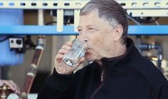 Bill Gates Samples from Machine That Turns Poop to Water, Electricity