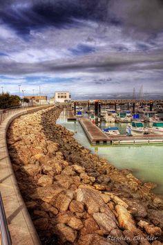 De port of Chipiona, Cadiz, Andalusia_ Spain