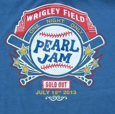 Check out this very Hot shirt sold at Pearl Jam concert at Wrigley Rock Posters, Band Posters, Concert Posters, Music Posters, Pearl Jam Eddie Vedder, New Flyer, How Lucky Am I, Wrigley Field, Great Bands