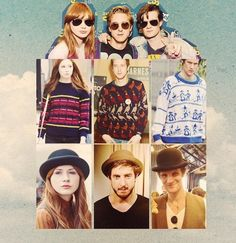 """When girls are together too long they get """"synced"""" when Doctor Who stars are together too long they become Hipsters and sync their personalities (Too much awesome in one photo) Bbc Doctor Who, Eleventh Doctor, We Are Best Friends, First Doctor, Nerd Herd, Karen Gillan, Bbc One, Scene Image, Geronimo"""