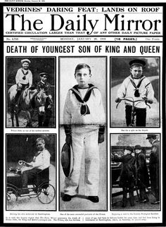 """January 20, 1919: Had he not died he would have been uncle to our Queen, but Prince John was a secret even when alive. He suffered epilepsy from infancy, died aged 14 after suffering a fit in his sleep, and was discovered in bed wearing an """"angelic smile"""". The fifth child of George V and Queen Mary, known as Johnny, had fits that became more """"frequent and severe"""" with age. He turned from a """"sturdy, healthy and happy lad"""" to one needing to """"constantly have an attendant"""" and was kept away from any Queen Victoria Prince Albert, Victoria And Albert, Queen Mary Of England, Royal Family Portrait, St Mary Magdalene Church, Albert King, Royal Family Pictures, English Royal Family, Edwardian Clothing"""