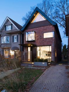 New Exterior Brick House Square Feet Ideas Houses Architecture, Architecture Renovation, Residential Architecture, Architecture Design, Toronto Architecture, Contemporary Architecture, Modern Contemporary, Industrial Architecture, Classic Architecture