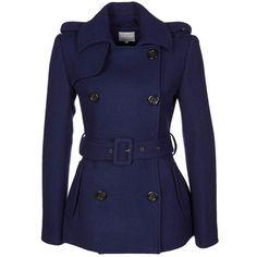 Zalando Collection Short coat ($115) ❤ liked on Polyvore