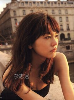 Actress and supermodel Mirei Kiritani seen here in Paris, France during the making of her first photo book. She looks sad even though she is beautiful.