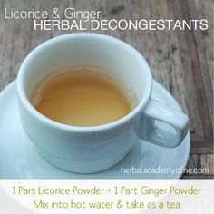 Licorice and Ginger: Herbal Decongestants | Herbal Academy of New England