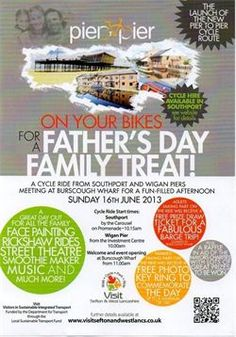 Fathers Day Cycle Ride & Fun Day Southport & Wigan meeting at Burscough Wharf