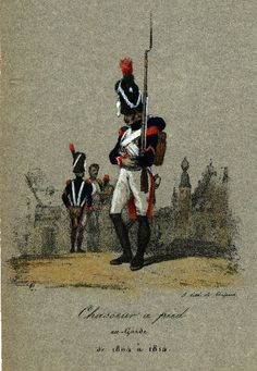 Chasseur à Pied, ex-Garde,1810-1815 by Vernet - Lami