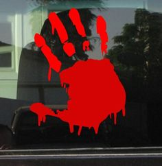 BLOODY DRIPPING Zombie Right Hand PRINT 6 RED Vinyl Decal Window Sticker for Laptop Ipad Window Wall Car Truck Motorcycle ** Check this awesome product by going to the link at the image.Note:It is affiliate link to Amazon.