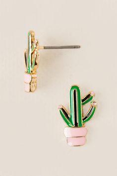 Cactus in Pot Stud