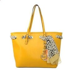 Great discount Michael Kors Jet Set Scarf Large Yellow Totes. We provide you more choices at our site. #NYFW #giftsforher