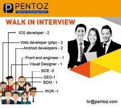 Software Development & Marketing jobs available with Pentoz.com.We are hiring PHP, Ruby on Rails, Joomla, Drupal, Magento, Mysql, CakePHP, Oscommerce, VirtueMart, wordpress, HTML/CSS, Javascript, JQuery, AJAX, FLEX, SOAP, Web Services, CreLoaded, C, Objective C, C#, Java, J2EE, J2ME, SOAP,... #app #digital #tech #developers #mobileapp #developers #pentoz