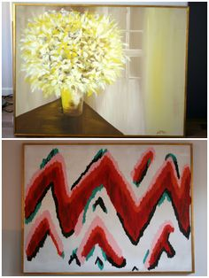 Create / Enjoy: In which I pretend to be a painter. DIY zigzag ikat wall art!
