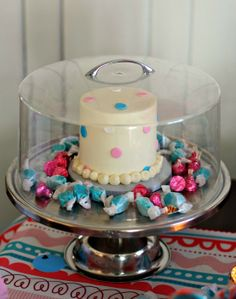 Sweet gender reveal party by High Heels to Hot Wheels.