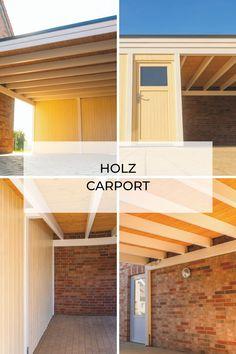 Nur zufriedene Kunden! Ein kleines, modernes, gelbes Carport – Auch mit Abstellraum & Schuppen verfügbar bei steda.
