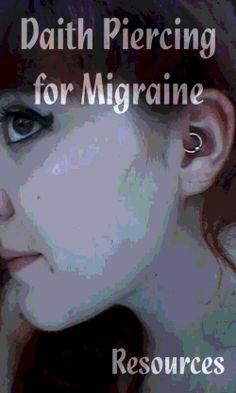 Acupressure Headache Daith Piercing for Migraine: Resources and Updates Daith Piercing Migraine, Inner Ear Piercing, Ear Piercings, Body Piercing, Migraine Relief, Pain Relief, Blue Dream, Acupressure, Make Up